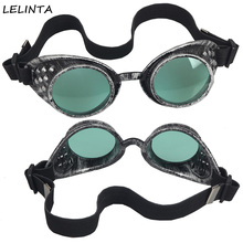 LELINTA New Sale 8 Colors Lens Unisex Gothic Old Silver Vintage Welding Glasses Gothic Style Steampunk Goggles Cosplay Eyewear