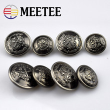 10pcs Meetee 20/25mm Vintage Copper Metal Coat Button DIY Leather Sweater Jeans Shirt Decor Accessories Buckle Hand Sewing B3-14