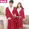 winter coral fleece bathrobe Nightgown for male and female lovers Home Furnishing special thick flannel pajamas