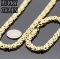 """8.66 ' ' 24 """" oro de acero inoxidable bizantino pulsera del collar mejor regalo conjunto JEWLERY para mujeres hombres"""