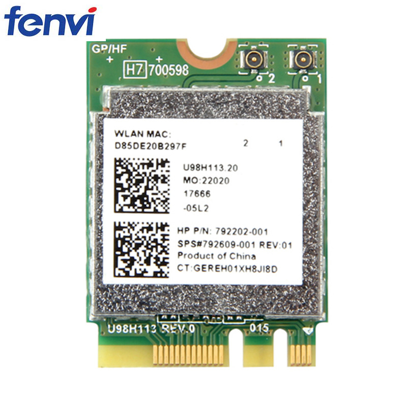 150Mbps Wireless RTL8188EE NGFF M.2 Wi-Fi Network Card 802.11b/g/n SPS#792609-001 For HP Laptop