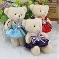 Encantador Mini oso peluche encanto del teléfono relleno pequeño juguete de regalo promocional de algodón Opp muñeca del oso regalos de san valentín