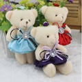 Lovely Mini Bear Soft Plush Toy Phone Charm Stuffed Small Toy Promotional Gift Opp Cotton Bear Doll  Valentine's day gifts