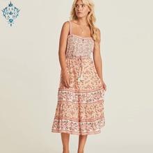 Ameision 2019 summer strap sundress rayon floral print Tassel Gypsy beach Dress sleeveless boho women Slim sexy dresses vestidos