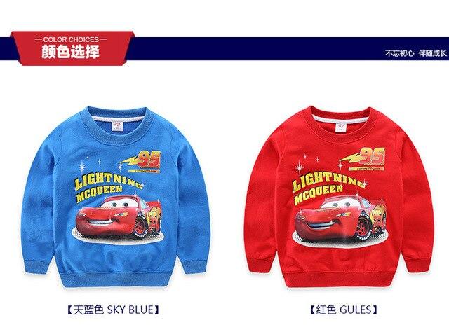 2016 boy girl t shirt spring autumn children t shirts clothing cartoon car cotton  kids clothes tees tops 4-11Y