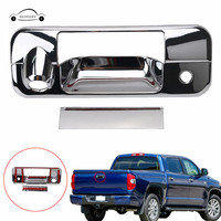 KOLEROADER Camera Key Hole Tailgate Rear Back Door Handle Chrome Cover Trim Accent For Toyota Tundra