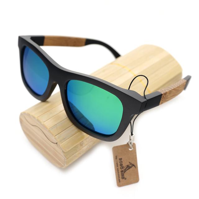 BOBO Estilo PÁSSARO Óculos De Sol de Marca Designer de Óculos De Sol De Madeira de Bambu de Madeira Quadrado Desporto Ao Ar Livre SunGlasses Gafas Oculos Masculino