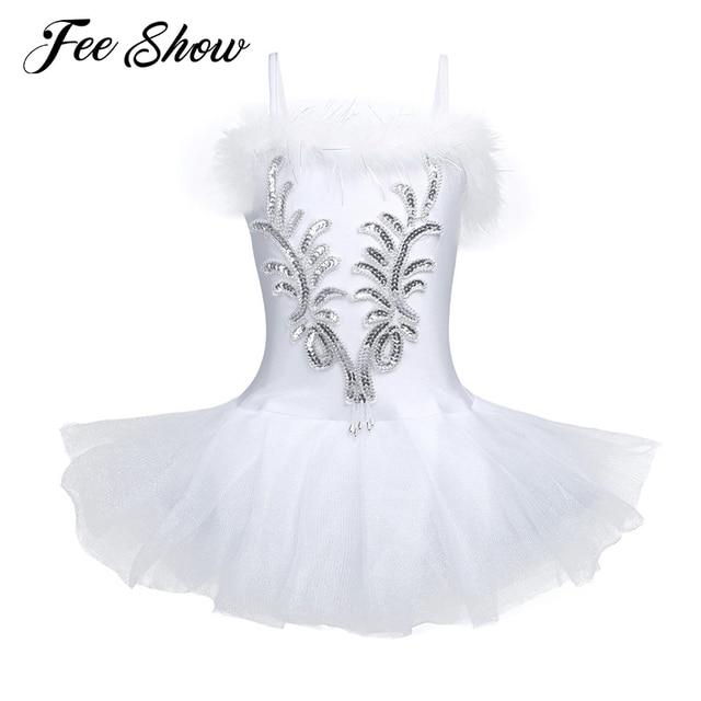 cdf067db1e65 Hot Sale White Swan Lake Ballet Dress Kids Girls Sequin Dancer ...