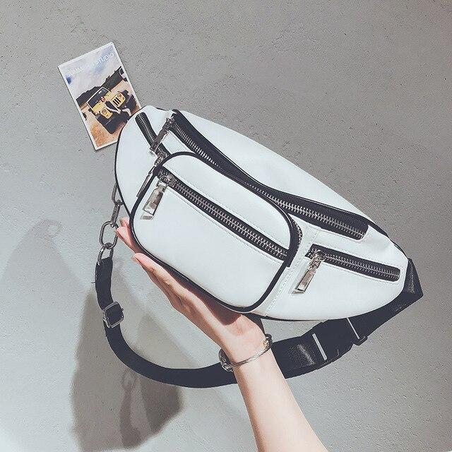 Поясная Сумка Для женщин талии мешок черный талии Fanny Pack Элитный бренд кожа груди сумки женские поясные сумки 2018 сумки на плечо кошелек