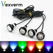 23/18 MM Car Eagle Eye DRL Led Daytime Running Lights LED 12V Backup Reversing Parking Signal Automobiles Lamps DRL Car styling(China)