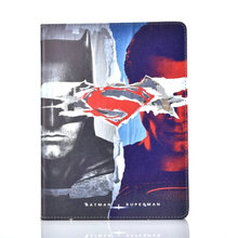 For Apple iPad Mini 4 iPad air 2 Cover Fashion Dawn of Justice Batman Vs Superman PU Leather Tablet protective Case(China)