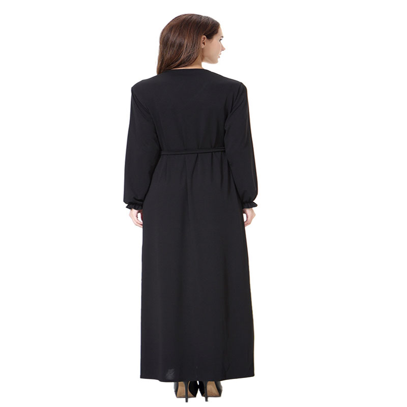 2019 Vintage Women Slim Summer Casual Dress Long Abaya Sleeve Soft Dress For Kaftan Islamic Muslim Turkish Arabic For Women eid