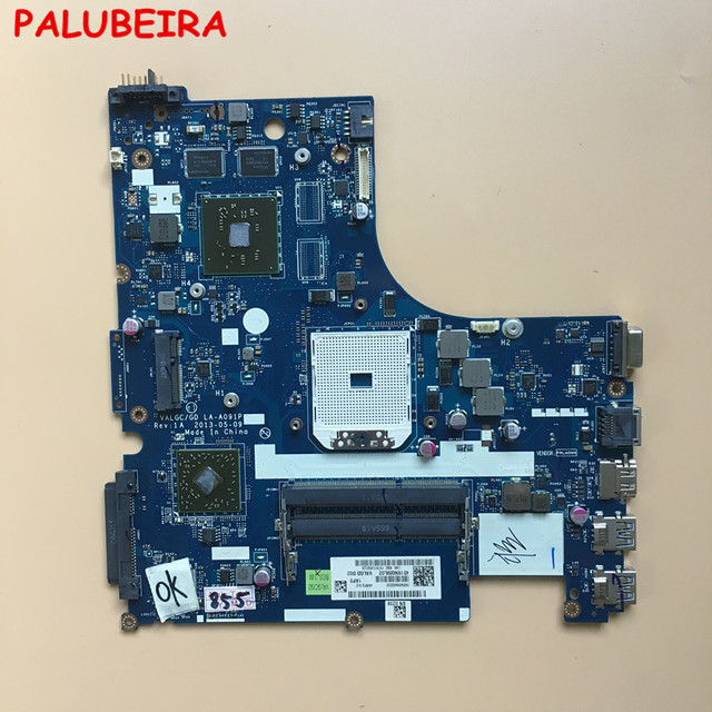 PALUBEIRA LA A091P เมนบอร์ดแล็ปท็อปสำหรับ Lenovo G505S Mainboard DDR3 ทดสอบทำงานที่สมบูรณ์แบบ