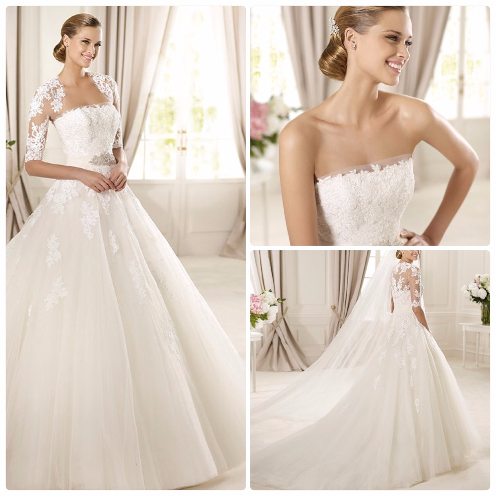 2017 new design bridal gowns ball gown 2 piece wedding for Aliexpress wedding dresses 2017