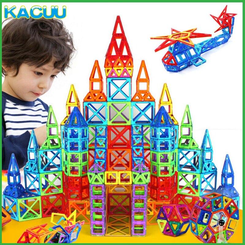 61-99PCS Size Big Magnetic Designer Constructor Magnetic Blocks Educational Building Blocks Designer Toys For Children Gifts