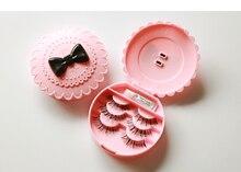 1PC New Flower Lovely False Eyelash Storage Box Makeup Cosmetic With Mirror Case Organizer Bownot Beauty Comestics Tool OK 0560