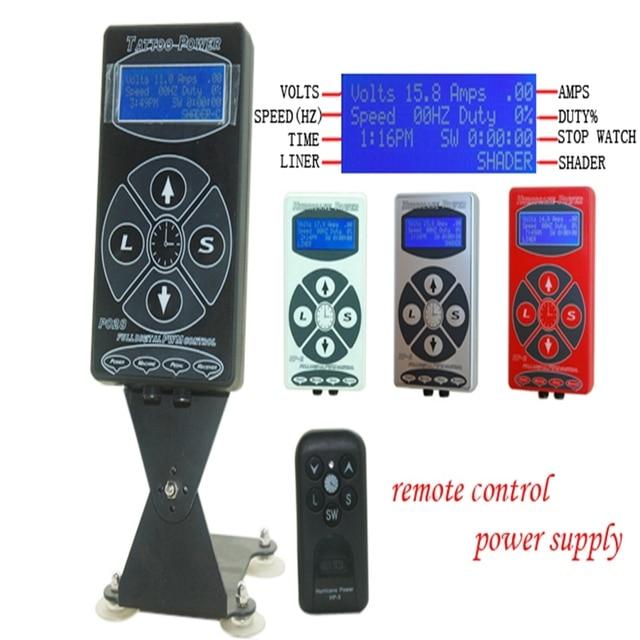 Pro Black Dual P028 Digital Power Supply Tattoo Hurricane Fountain Source Tattoo Power Supply Tattoo Machine
