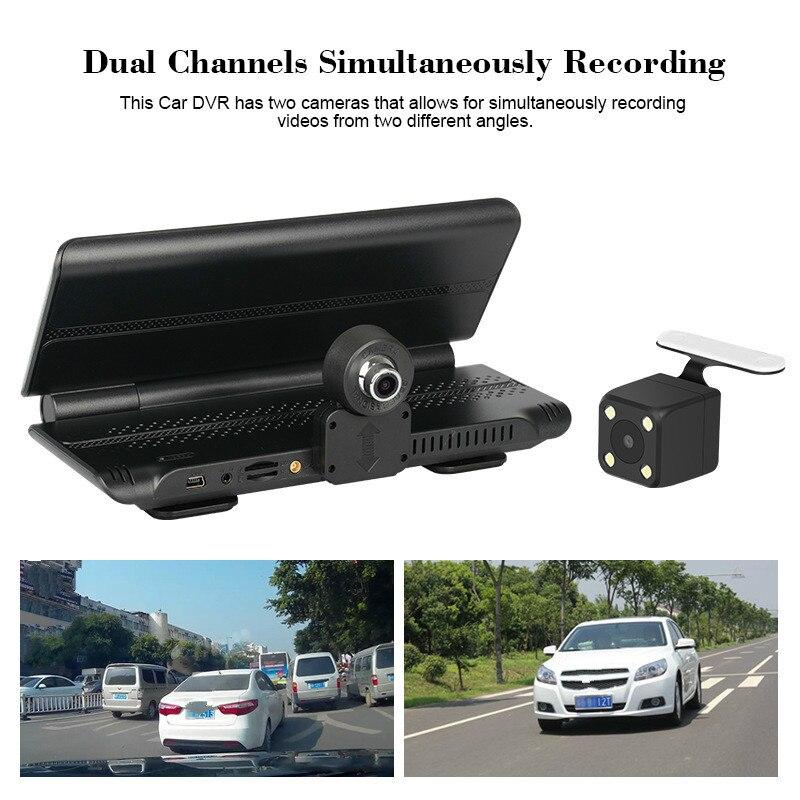 Dash Cam Dash caméra ADAS double lentille Full HD 1080 p Vision nocturne rétroviseur voiture DVR écran tactile voiture enregistreur vidéo