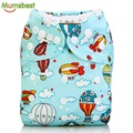 [Mumsbest] 2016 New Style Baby Cloth Diapers One Size Adjustable Baby Cartoon Fish Fox  Cloth Nappies Washable Reusable Diapers