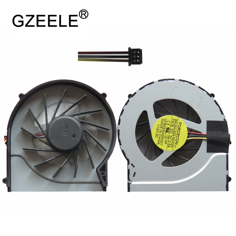 GZEELE new Laptop cpu cooling fan for HP Pavilion DV7-4000 DV6-3000 Notebook Computer Cpu Cooling Fans Processor Cooler 3 Lines computer cooler radiator with heatsink heatpipe cooling fan for hd6970 hd6950 grahics card vga cooler