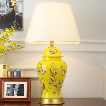 TUDA Multicolor Opcional Frete Grátis 40X69 cm Estilo Chinês Candeeiro de Mesa de Cerâmica Pintados À Mão Candeeiro De mesa Em Cerâmica Para Sala de estar