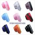 16 Styles Multi Color Gravata Slim Ties Patchwork Wedding Ties Silk Mens Neck Ties For Men Suit Jacquard Skinny Ties Cravatte