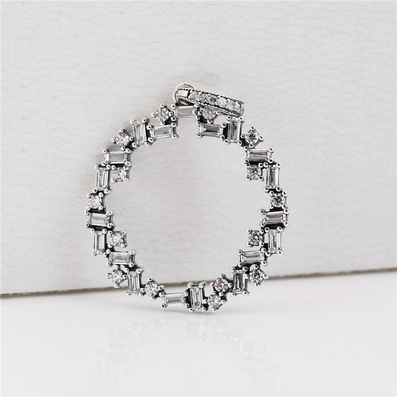 925 Sterling Silver Charm Bead Shards of Sparkling Pendant Fit Original Pandora Necklace Bracelet for Women Wedding Jewelry Gift