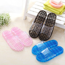 The bathroom Women and men massage  slippers Home indoor PVC hollow water Leakage slippers