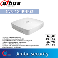 Dahua poe nvr 4CH Video Recorder NVR4104 P 4KS2 4 Channel Smart 1U 4PoE 4K&H.265 Lite Network Up to 8MP Resoluti