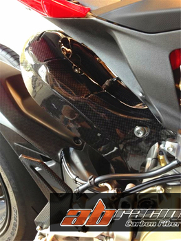 Heel Plate Guard For Ducati 1199 /S 1299 959 899 Superbike  Full Carbon Fiber 100%