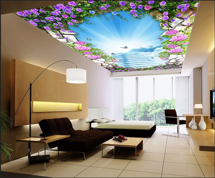 3d room wallpaper custom mural non-woven wall sticker 3 d Contracted contemporary floral ceiling mural wallpaper for walls 3d custom 3d ceiling wallpaper white polygon brick wall wallpaper for walls 3 d ceiling murals wallpapers for living room