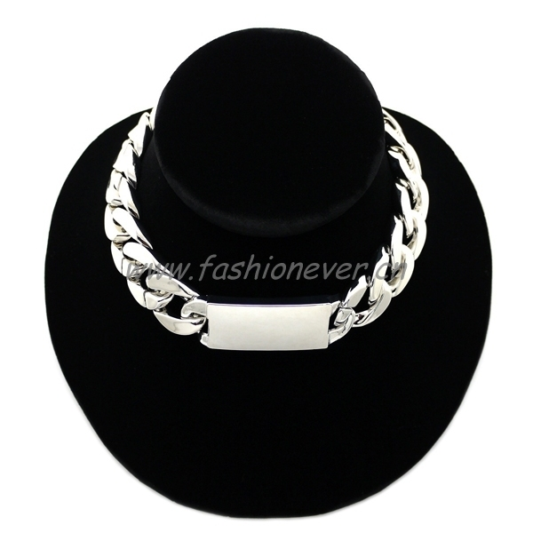 Hot-Sale Celebrity Style ID Pendants Link Chain Choker Necklace