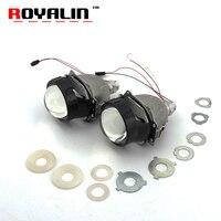 ROYALIN Bi светодиодный проектор Объектив сильный Мощность 3,0 дюймов Hi/Lo луч фар автомобиля Стайлинг для H1 H4 H7 9005 9006 универсальный авто лампы