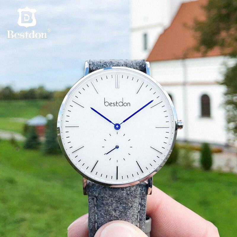 Bestdon Fashion Unisex Watch Switzerland Luxury Brand Men Ladies Wrist Watches Thin Casual Couple Relogio Masculino Students New