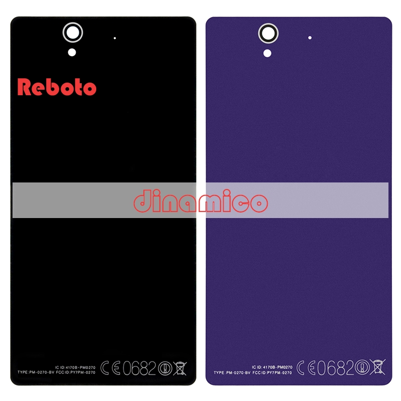 Reboto For Sony Z C6603 L36 L36h Lt36 Battery Door Housing Glass Case Relacement AAA For SONY Z Back Cover Free China Post 10PCS