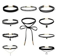 Punk Black Velvet Choker Necklace Women Lace Collar Neckband Necklaces Chokers Kolye Chocker Collares Mujer Jeffreeing Star(China)