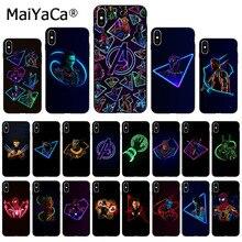 """MaiYaCa Марвел Супергерои из """"Мстителей"""" индивидуальный чехол для телефона с фото для Apple iphone 11 pro 8 7 66S Plus iphone X XS MAX 5S SE XR крышка"""