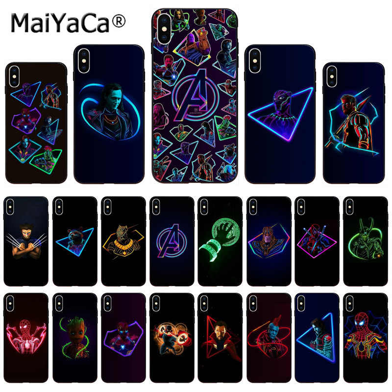 Maiyaca Superhero Marvel Avengers Photo Ponsel Case untuk Apple iPhone 11 Pro 8 7 66S Plus X XS MAX 5S SE XR Cover