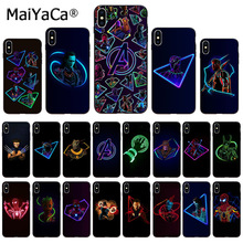 MaiYaCa Marvel Superheroes The Avengers Custom Photo Soft Phone Case for Apple iPhone 8 7 6 6S Plus X XS MAX 5 5S SE XR Cover