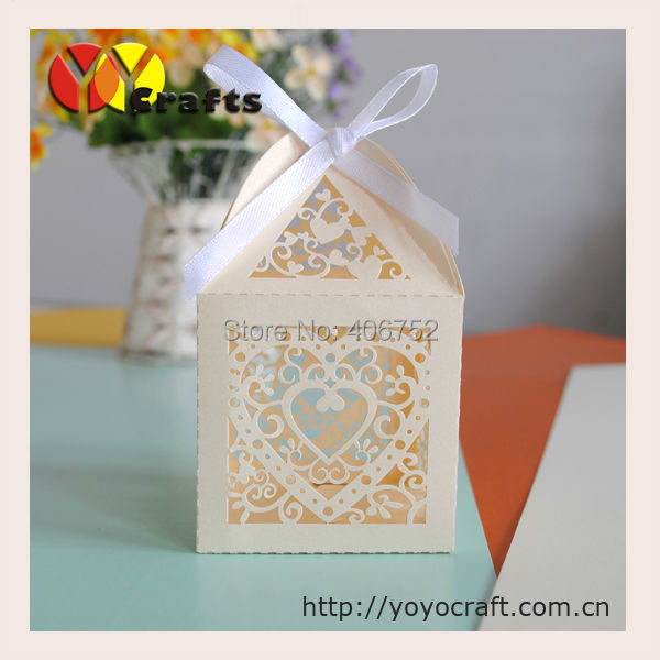 Gift For Wedding Guests Thank You: Aliexpress.com : Buy Heart Shaped Ivory Small Gift Boxes