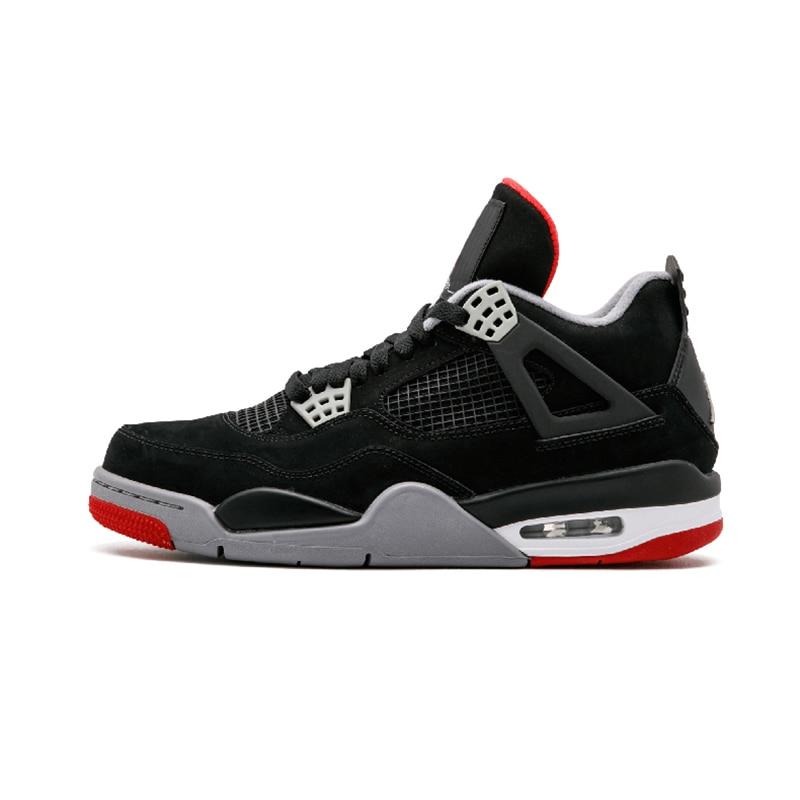 Hot Retro 4 hommes chaussures de basket-ball Kaws gris noir NRG poinçon chaud élevé pur argent simple jour Travis Scott chaussures de plein air