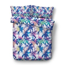 Bedding set Leafs Leaf print sheet Colorful Palm Tree bed sheets quilt duvet cover bedspread Cal King queen size full twin 4PCS