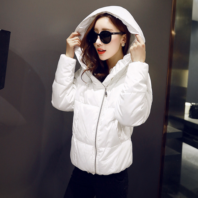 ФОТО women winter  jacket coat 2016 cotton Hooded Thick warm loose women basic coats bomber jacket female autumn