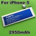 2950 mah batería de repuesto para apple iphone 5, iphone5 5g global shipping + número de seguimiento en línea