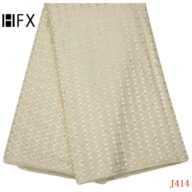 HFX High Quality African Dry Lace 2019 High Quality Swiss Cotton Voile Lace Champagne Gold Polish Lace Fabric for Women/Man L414HFX High Quality African Dry Lace 2019 High Quality Swiss Cotton Voile Lace Champagne Gold Polish Lace Fabric for Women/Man L414