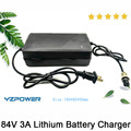 Auto-Stop 84V 3A Lithium Battery Charger For 20S 3.6V / 3.7V Li-Ion Lipo Battery Pack