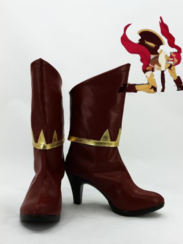 RWBY Pyrrha Nikos Cosplay Boots Shoes Anime Party Cosplay Boots Custom Made Women Shoes