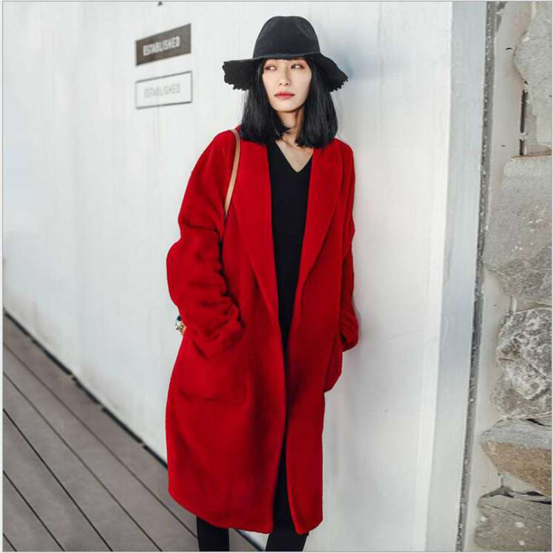 Online Buy Wholesale long red coat from China long red coat ...