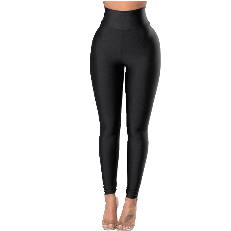 Women High Waist Slim Black Pants Ladies Casual Basic Stretch Pants Trousers