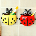Cute Animal Ladybug Creative Toothbrush Holder Baby Cartoon Gecko frog Toothbrush Wall Suction Hanger baby Toothbrush Rack